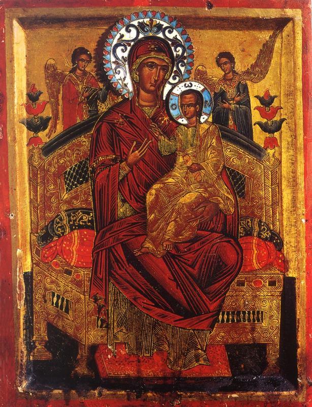Чудотворная икона Божьей Матери  «Всецарица» или «Пантанасса»- Ватопед