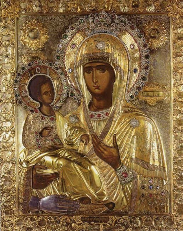 Чудотворная икона Божьей Матери  «Троеручица» - Хиландар