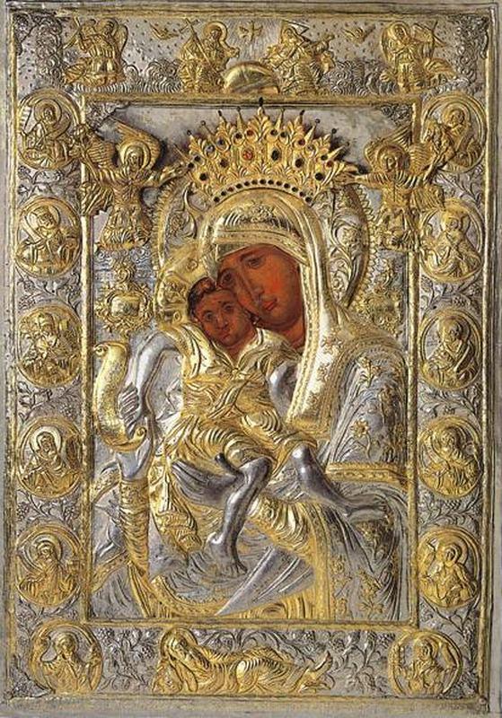Чудотворная икона Пресвятой Богородицы «Достойно Есть»-Протат, Афон.