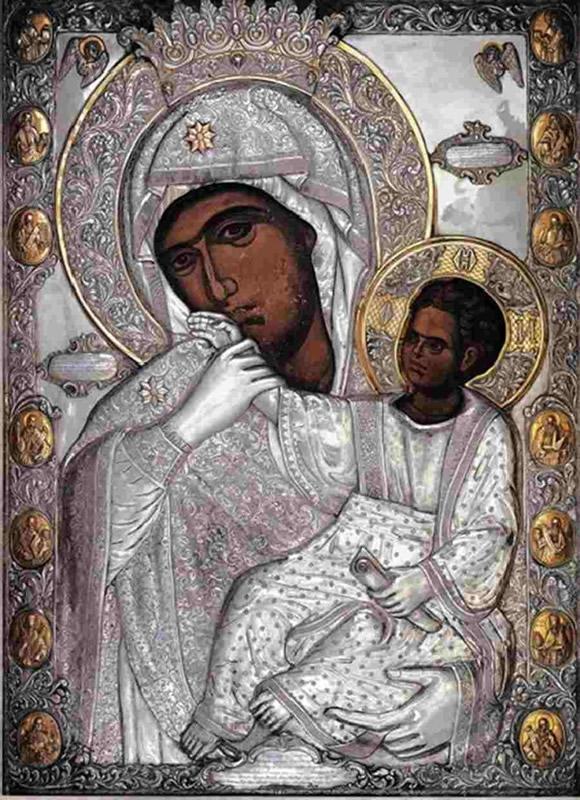 Чудотворная икона Божьей Матери  «Отрада» или «Утешение» - Ватопед
