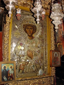 икона святого  великомученика Георгия Победоносца, самоизобразившаяся