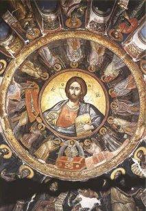 Иконопись в куполе Христоса Пантократора.  <p>Иконопись знаменитым изографом Феофаном Критским.</p>