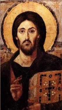 Икона Христа Вседержителя <p>Мозаичная икона VII века, находится в алтаре монастырского собора. Христос на этой иконе изображен во весь рост. По краям иконы изображены апостолы, а снизу – мощевики с мощами неизвестных святых. Икона помещена в серебряный ковчег, сзади которого есть надпись «Помяни, Господи, раба твоего Григория Смарагды, родителей и детей его».</p>