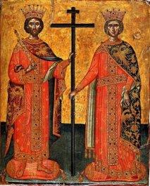 святые равноапостольные Константин и Елена <div>Согласно одному преданию царь Константин со своим сыном Констанцием основали обитель на Святой Горе Афон – Констамонит.</div> <div>.</div>
