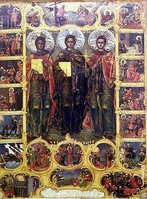 Преподобные Евфимий, Игнатий и Акакий