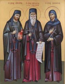 Святой преподобномученик Иаков и его ученики Иаков диакон и Дионисий монах <div>Святой преподобномученик Иаков и его ученики Иаков диакон и Дионисий монах, убиенные турками 1 ноября 1520 года.</div> <div>.</div>