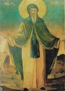 Преподобный Нифонт Афонский (переносная икона)